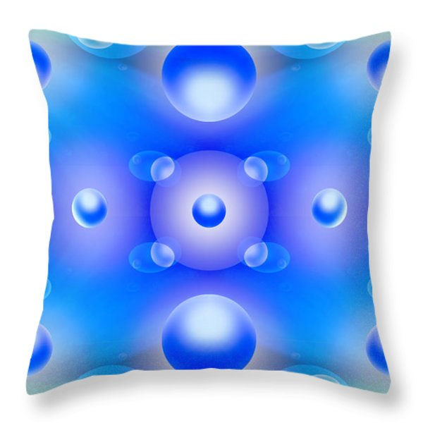 Worlds Collide 1 Throw Pillow by Mike McGlothlen