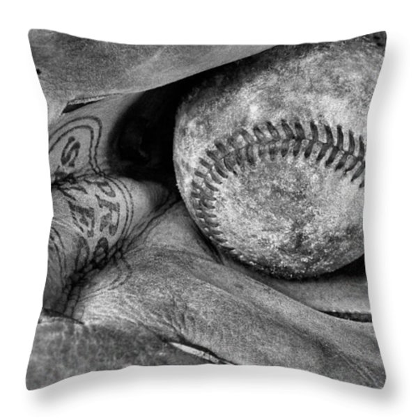 Worn In BW Throw Pillow by JC Findley