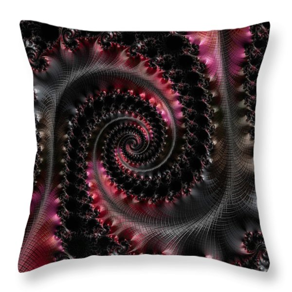 Wrapped Tails Throw Pillow by Bill Owen