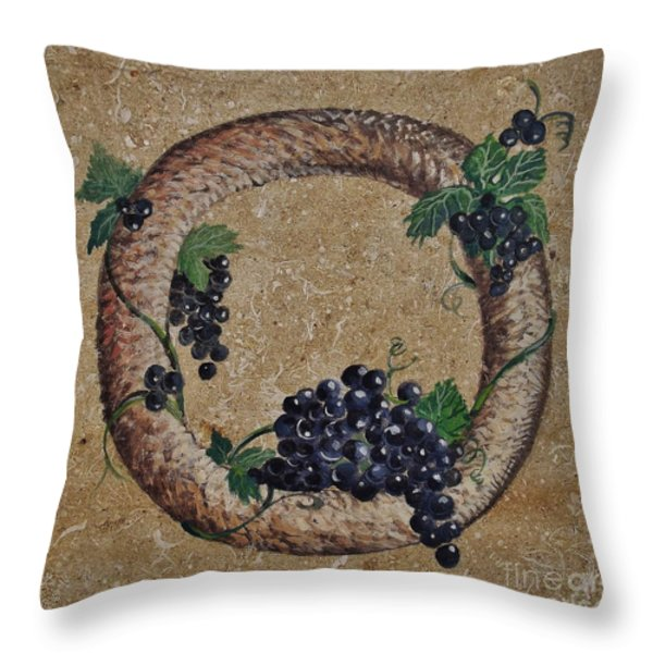 Wreath 3 Throw Pillow by Andrew Drozdowicz