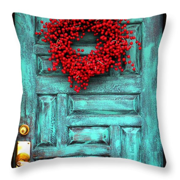 Wreath Of Berries Throw Pillow by Chris Berry