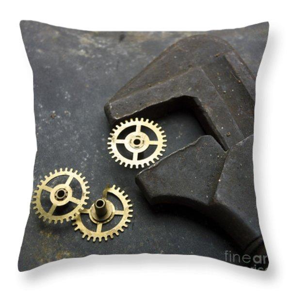 Wrench Throw Pillow by BERNARD JAUBERT