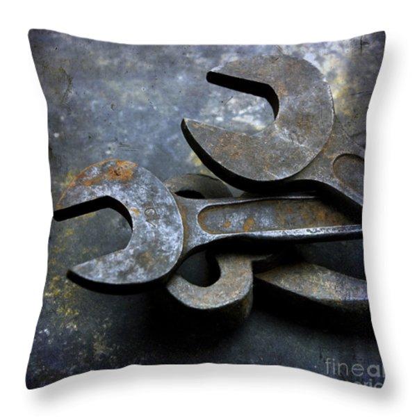 Wrenchs Throw Pillow by Bernard Jaubert