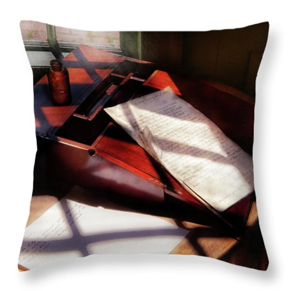 Writer - A letter to my Brother  Throw Pillow by Mike Savad