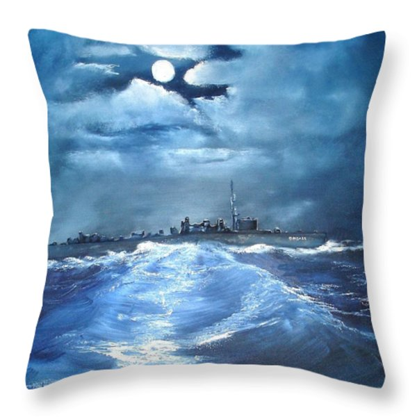 W.w.2  U.s.s. Hovey Throw Pillow by L Gail Garrett