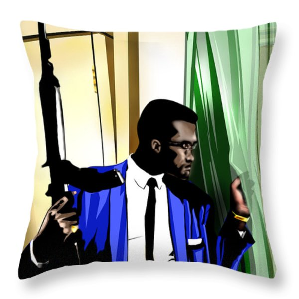 X - Somewhere Between Heaven Earth And Hell Throw Pillow by Reggie Duffie