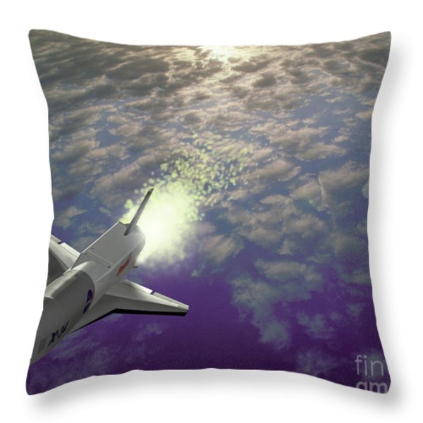 X34 Aircraft Throw Pillow by NASA