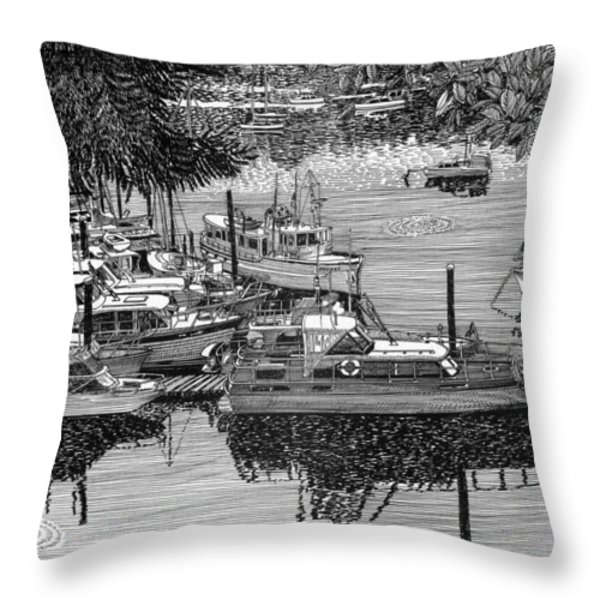 Port Orchard Yacht Club Cruise To Vashon Island Throw Pillow by Jack Pumphrey