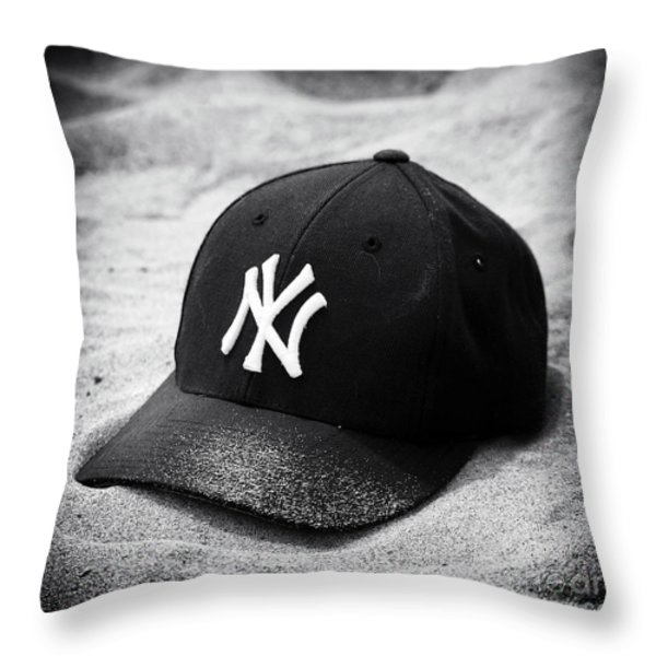 Yankee Cap Throw Pillow by John Rizzuto
