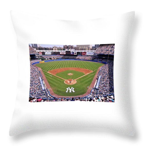 Yankee Stadium Throw Pillow by Allen Beatty
