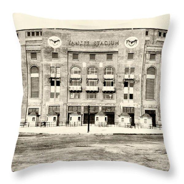 Yankee Stadium Throw Pillow by Bill Cannon