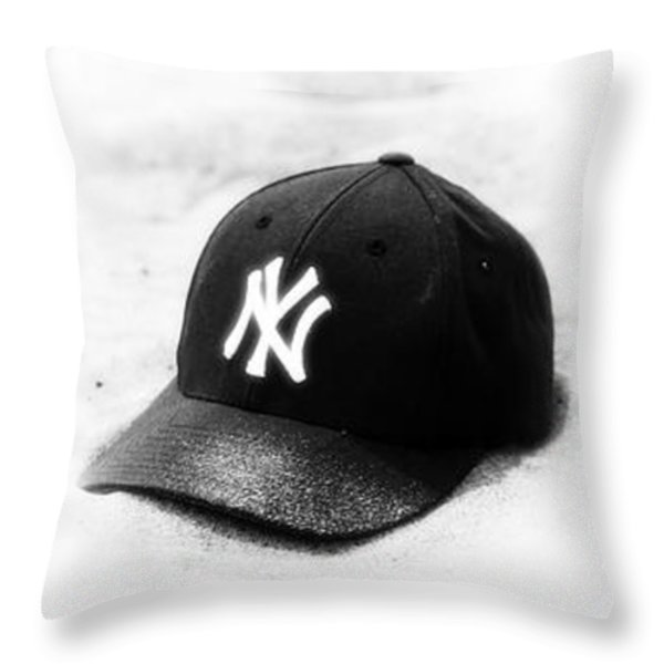 Yankees Throw Pillow by John Rizzuto