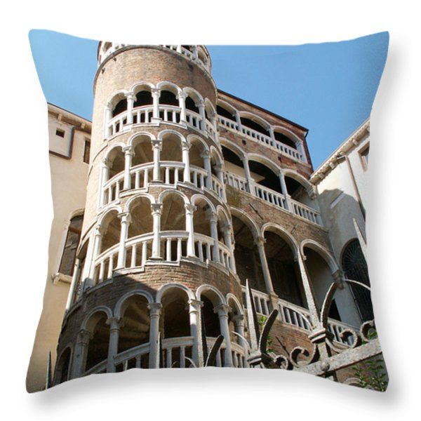 Yard Of Venice Throw Pillow by Evgeny Pisarev