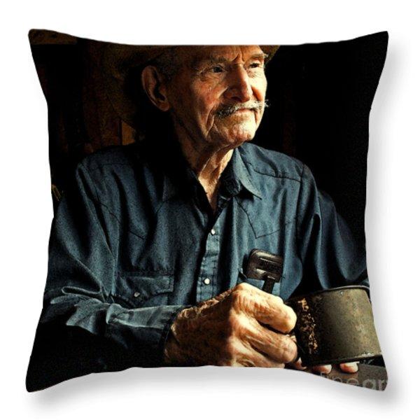 Yarn Time Throw Pillow by Joe Jake Pratt
