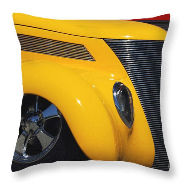 Yellow '37 Throw Pillow by Dennis Hedberg