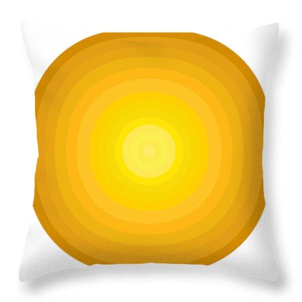 Yellow Circles Throw Pillow by Frank Tschakert
