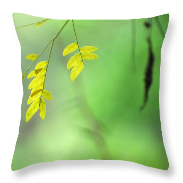 Yellow Leaves Throw Pillow by Guido Montanes Castillo
