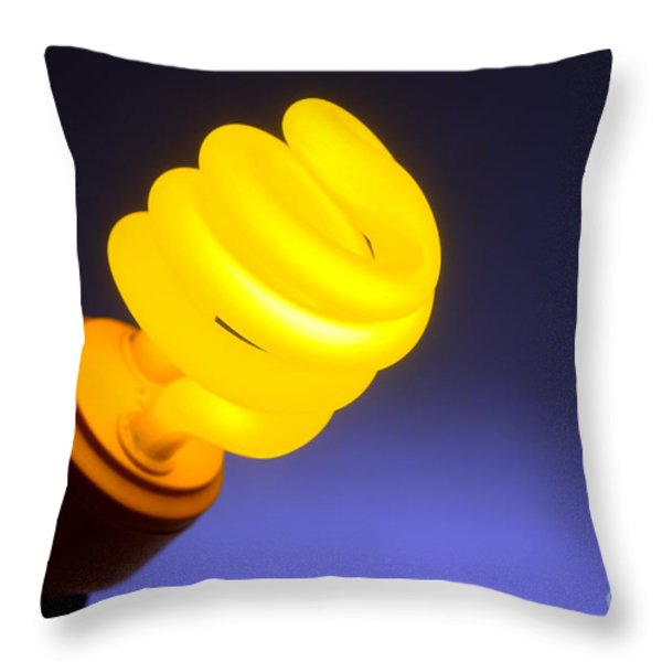 Yellow Light Throw Pillow by Olivier Le Queinec