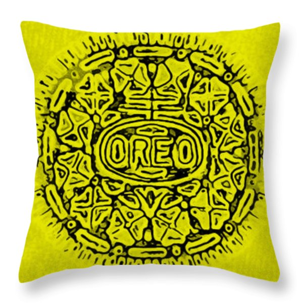 YELLOW OREO Throw Pillow by ROB HANS