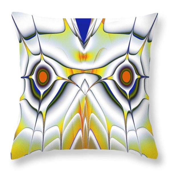 Yellow Owl Throw Pillow by Anastasiya Malakhova