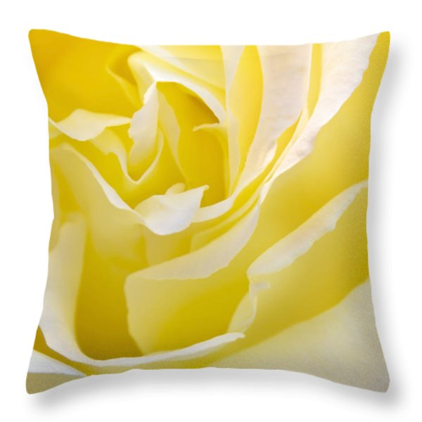 Yellow Rose Throw Pillow by Svetlana Sewell