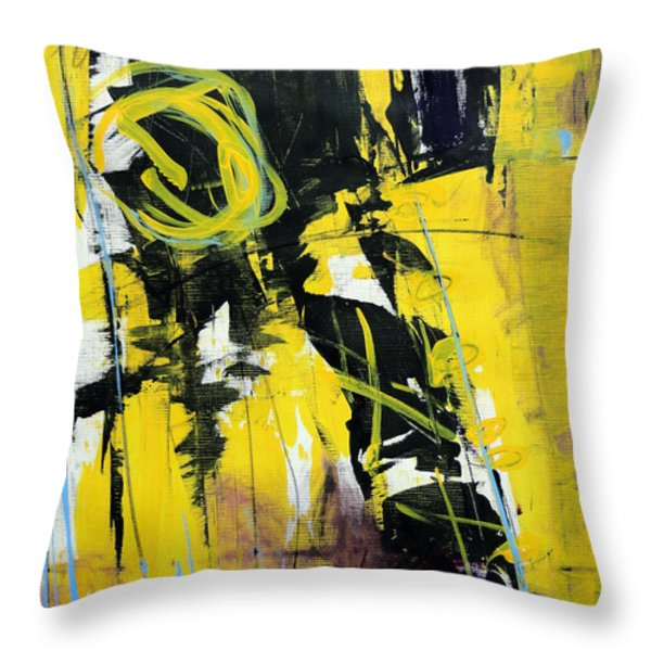 Yellowtale Throw Pillow by Katie Black