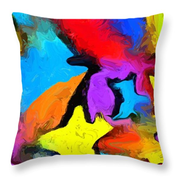 Yesterday's Rainbow Throw Pillow by Chris Butler