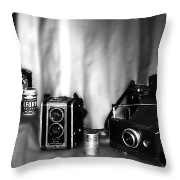 Yesterdays Tools Throw Pillow by Camille Lopez