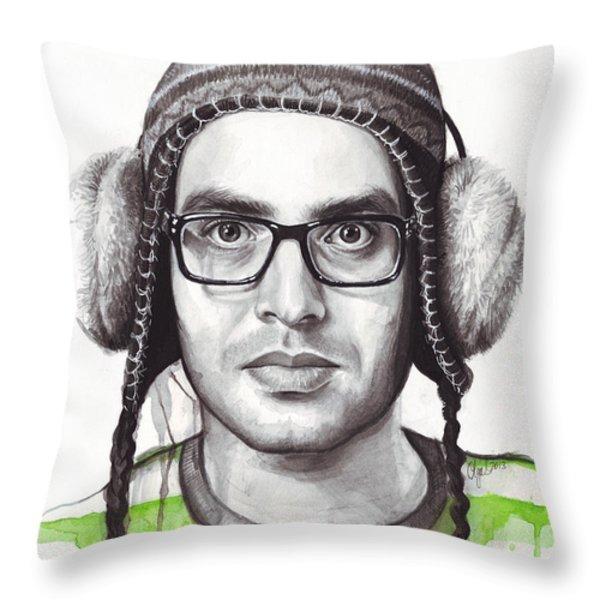 Yevgeny Throw Pillow by Olga Shvartsur