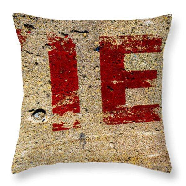 Yield Throw Pillow by Bob Orsillo