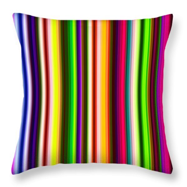 Yikes Stripes Throw Pillow by Ginny Schmidt