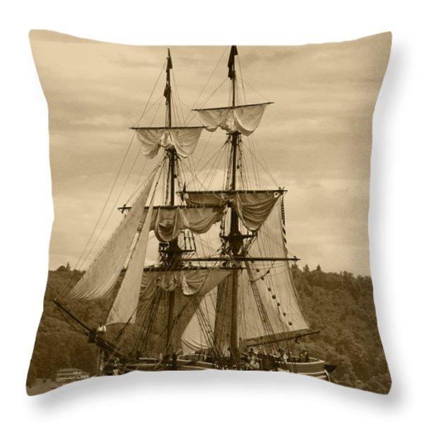Yo Ho Lady Washington Throw Pillow by Kym Backland