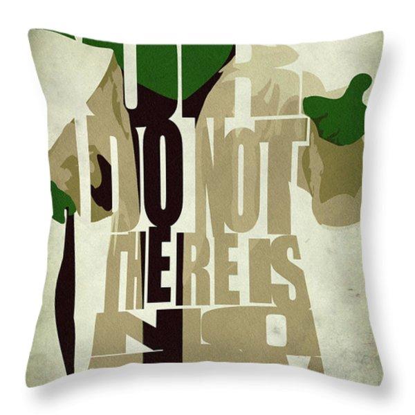 Yoda - Star Wars Throw Pillow by Ayse Deniz