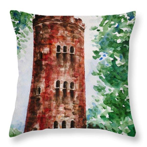 Yokahu Tower  Throw Pillow by Zaira Dzhaubaeva