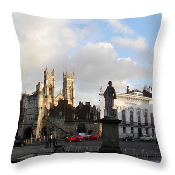York Gallery Square Throw Pillow by Neil Finnemore