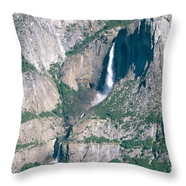 Yosemite Falls Throw Pillow by Mark Newman
