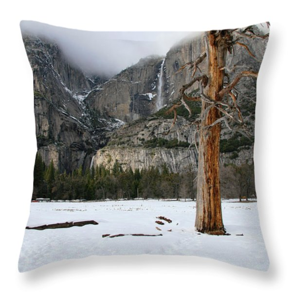 Yosemite In The Dead Of Winter Throw Pillow by Patricia Sanders