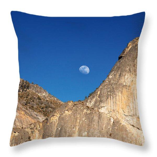 Yosemite Moonrise Throw Pillow by Jane Rix