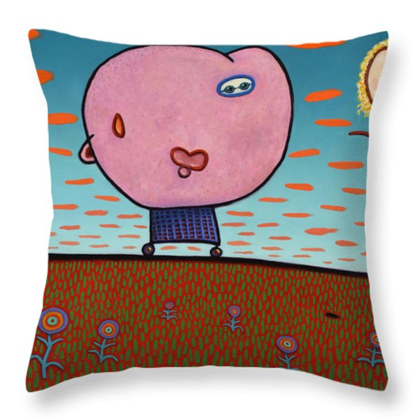 You are my Sunshine Throw Pillow by James W Johnson