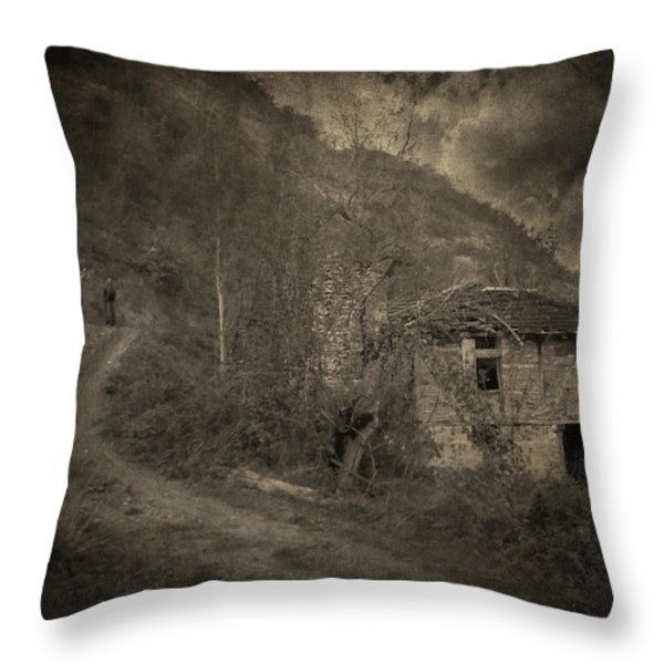 You are not here Throw Pillow by Taylan Soyturk