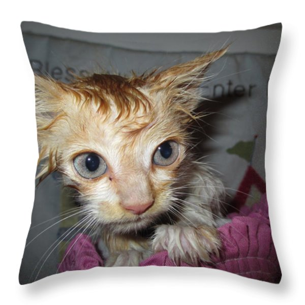You Call This A Rescue? Throw Pillow by Diannah Lynch