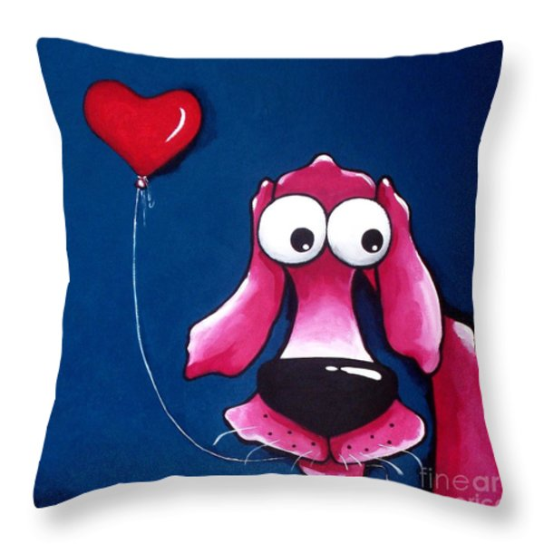 You have my heart Throw Pillow by Lucia Stewart