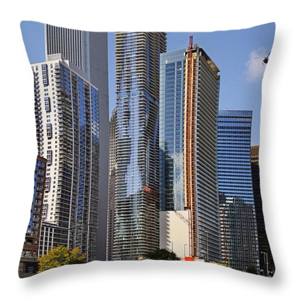 You Haven't Seen Chicago Until You've Been On The River Throw Pillow by Christine Till