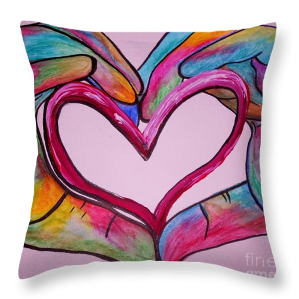 You Hold My Heart in Your Hands Throw Pillow by Eloise Schneider