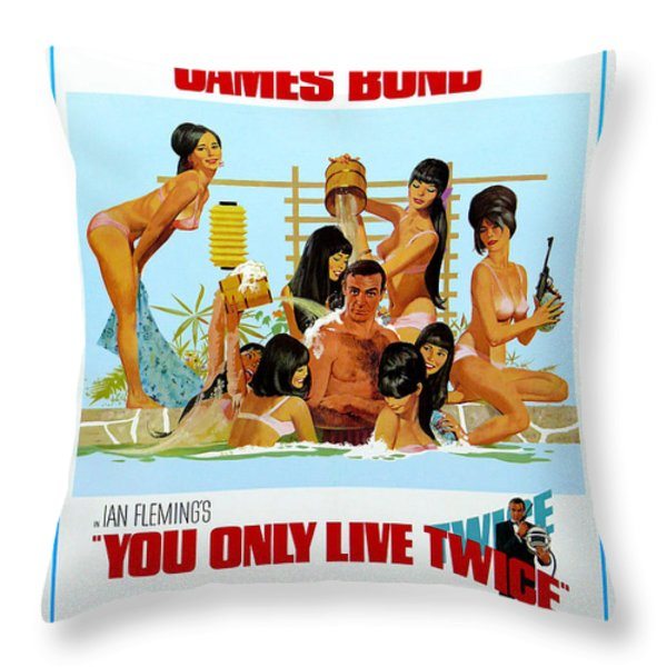 You Only Live Twice Throw Pillow by Nomad Art And  Design