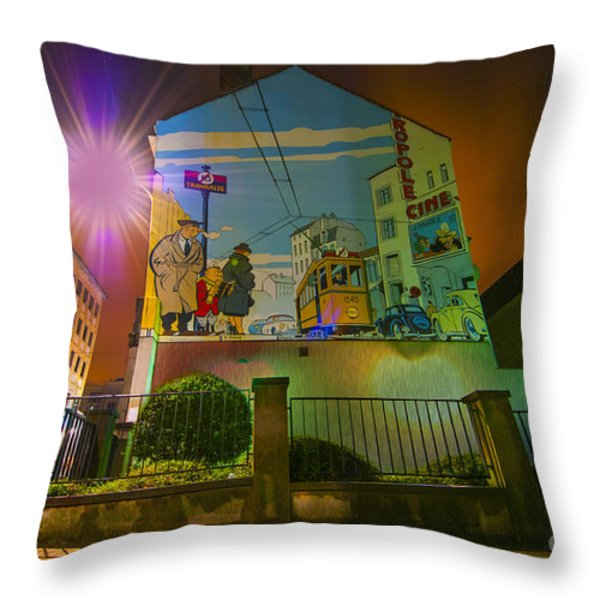 Young Albert Throw Pillow by Juli Scalzi