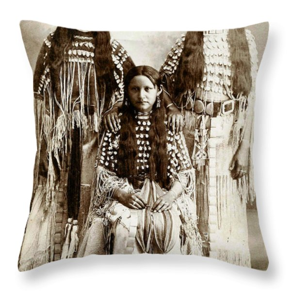 Young Kiowa Belles 1898 Throw Pillow by Unknown
