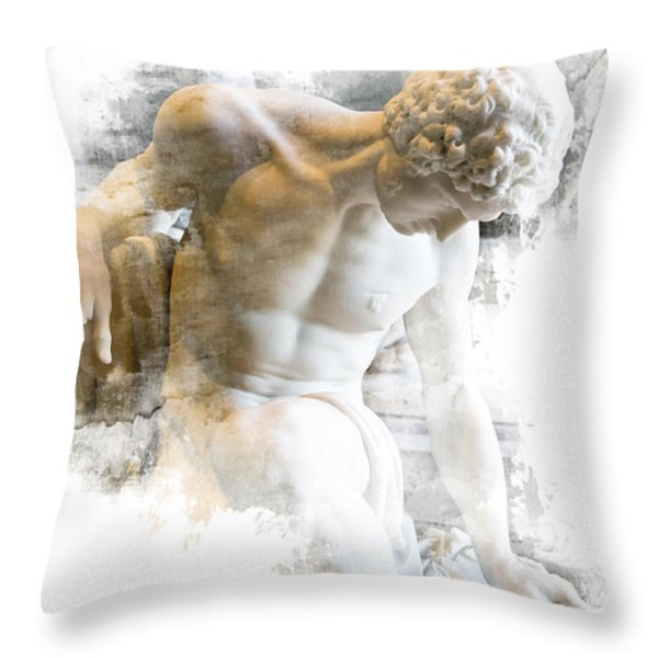 Young Man Throw Pillow by Evie Carrier