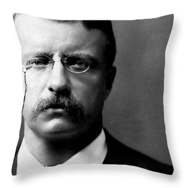 Young Theodore Roosevelt Throw Pillow by Bill Cannon