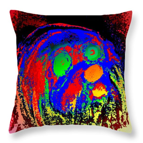 Young Troll Groving Up Throw Pillow by Hilde Widerberg
